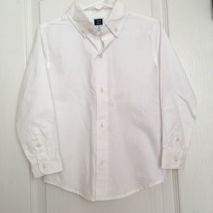 Janie & Jack white dress shirt size 3